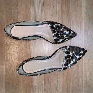 J. Crew D'Orsay Flats - Leopard Calf Hair
